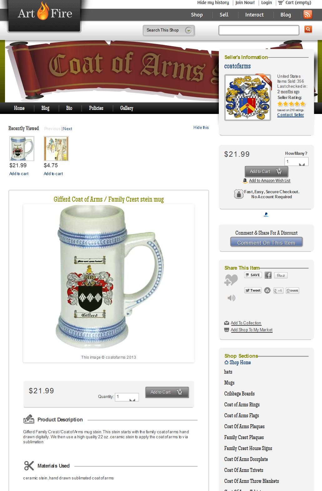 Artfire - product listing image
