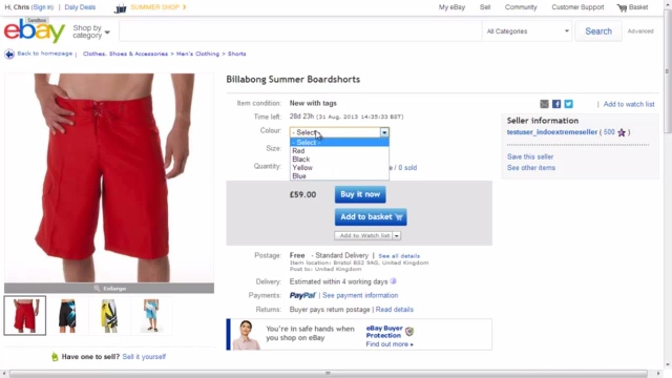 ebay- product listing