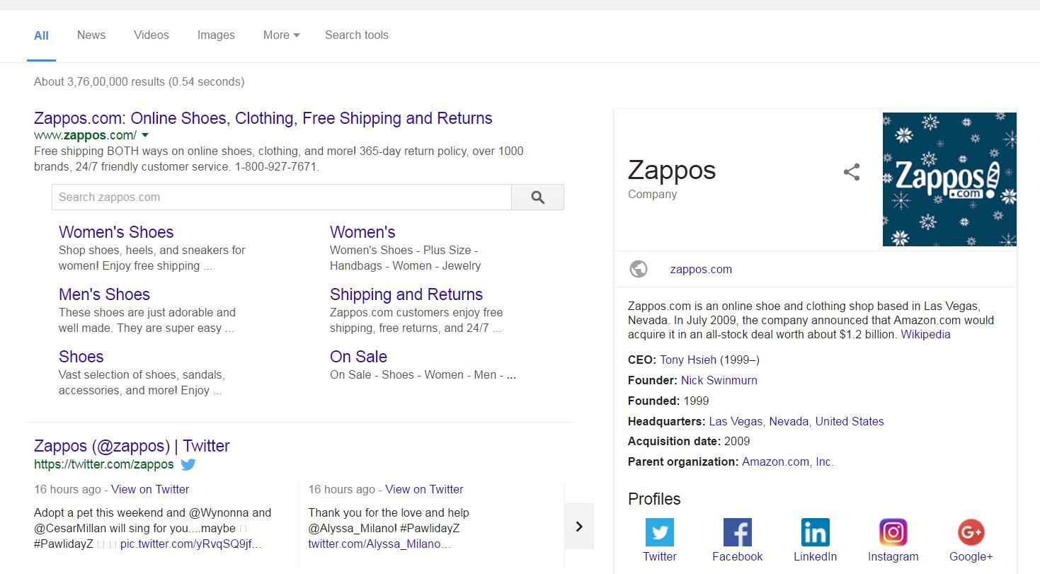 Zappos - Google Search