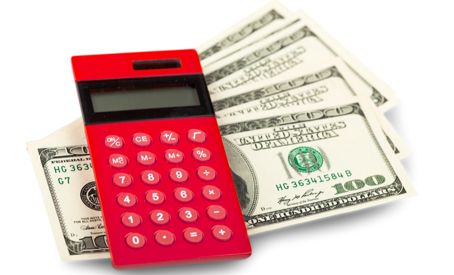 Money and calculator shows that Inventory management software saves investments