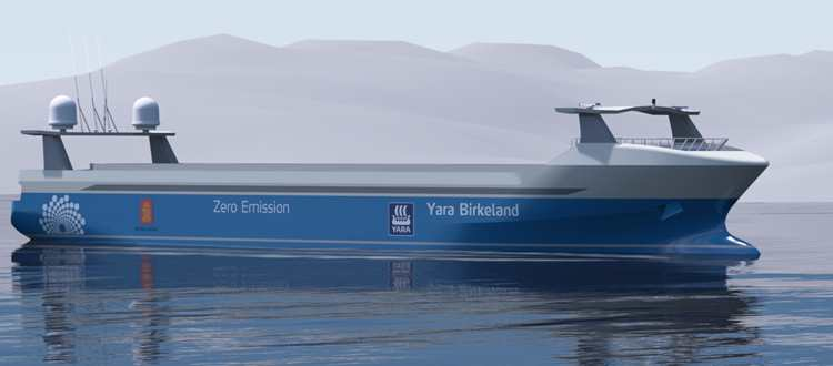 Fully Autonomous electric container ship