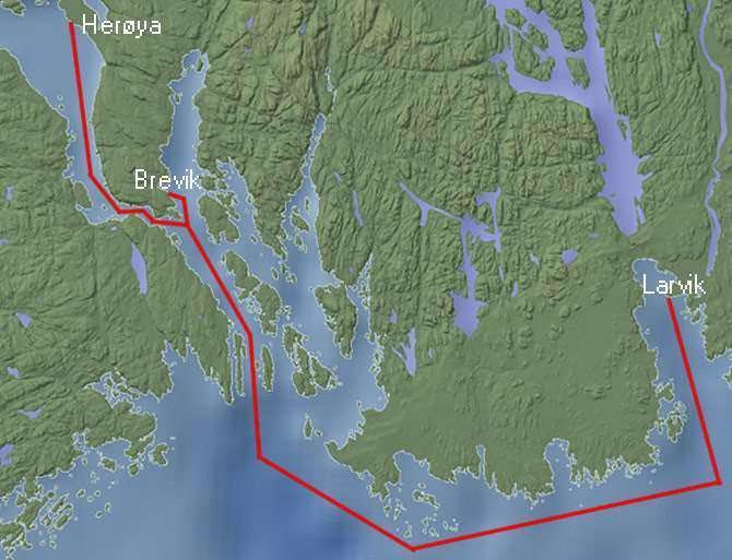 Yara Birkeland's proposed route in southern Norway